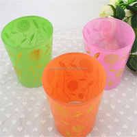 2014 hot selling exquisite crystal lotus flower glass candle holder