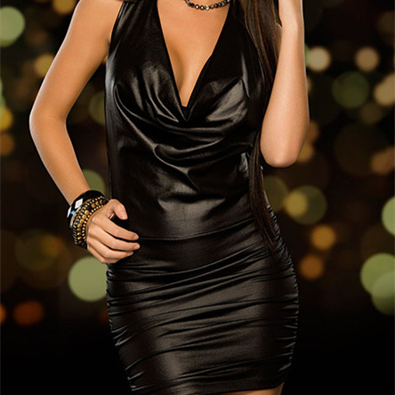 Flight Tracker Women Sexy Mesh Pvc Erotic Leotard Costume Black Faux Leather Mini Party Dress Pvc Clubwear Sexy Latex Wet Look Dress Backless Elegant And Sturdy Package Dresses