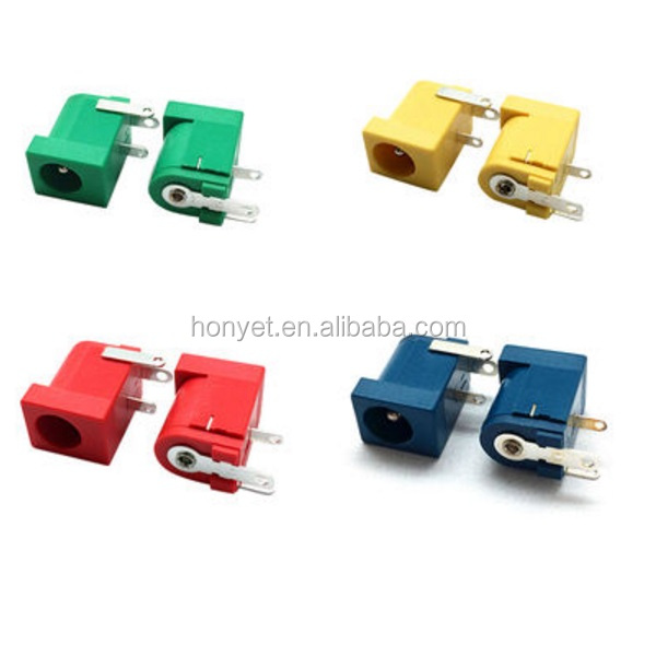 Colorful DIP Power Jack 250V AC and 5,000 cycles Lifespan DC-005