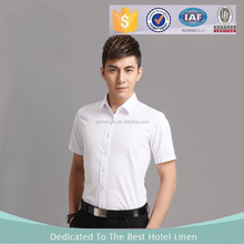 2017 Latest Fashion Slim Fit Short Sleeve Hotel Manager shirt, Men Business Shirth