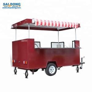 chinese food caravan for mobile / japanese food kiosk and van / bus-type  mobile food kitchen
