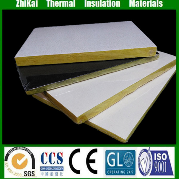 New products Acoustic Fiberglass ceiling tiles, 15mm glass wool for ceiling