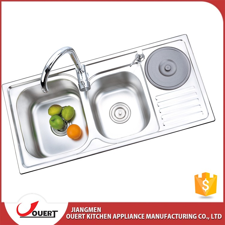 2017 best kitchen sink brand double bowl stainless steel