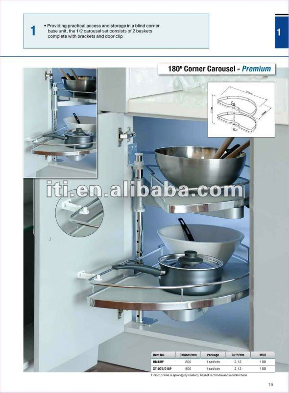 Pull Out Kitchen Cabinet Metal Basket Lazy Susan Product On Alibaba