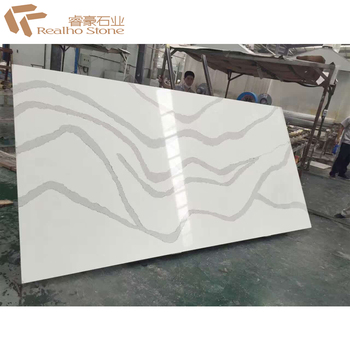 White Gray Veins Calacatta Quartz Stone For Island Kitchen Table Top - Buy  Calacatta Quartz Stone,Kitchen Table Top,Quartz Dining Table Top Product on  ...