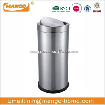 Stainless Steel Swing Top Kitchen Trash Can - Buy Stainless Steel Trash  Can,Kitchen Trash Can,Open Top Trash Can Product on Alibaba.com