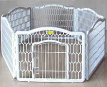 Wholesale Portable Dog Fence White Plastic Pet Dog Pen With 6 Panels
