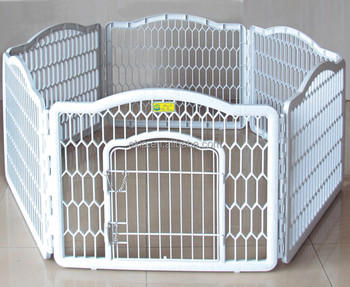 Wholesale-Portable-Dog-Fence-White-Plastic-Pet