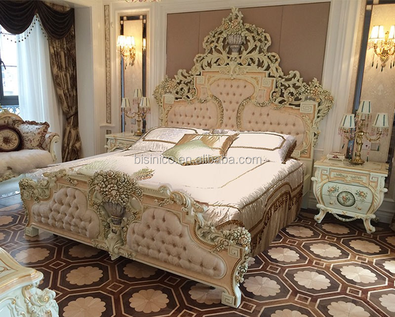 Italian French Rococo Luxury Bedroom Furniture Dubai Luxury Bedroom Furniture Set View