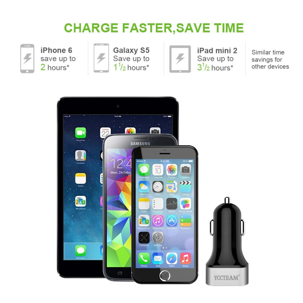 Dual Usb 5V 4.8A 2 Port Usb Car Charger For Phone,Tablet,game player,eBook,GPS