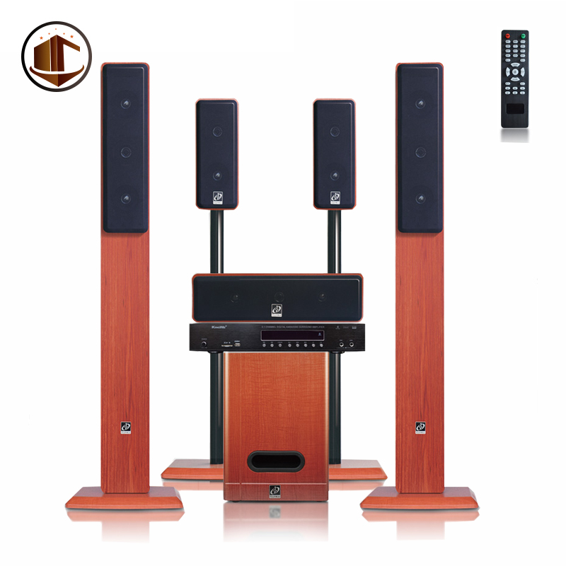 Remote Control Amplifier Subwoofer Speakers Home Theater 5.1 Karaoke Speaker System
