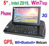 "5"" 5 inch windows 7 MID with GPS 3G Phone"