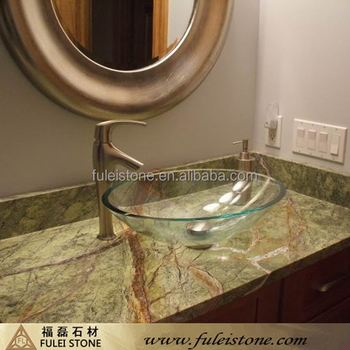Rainforest Green Marble Countertop Vanity Top