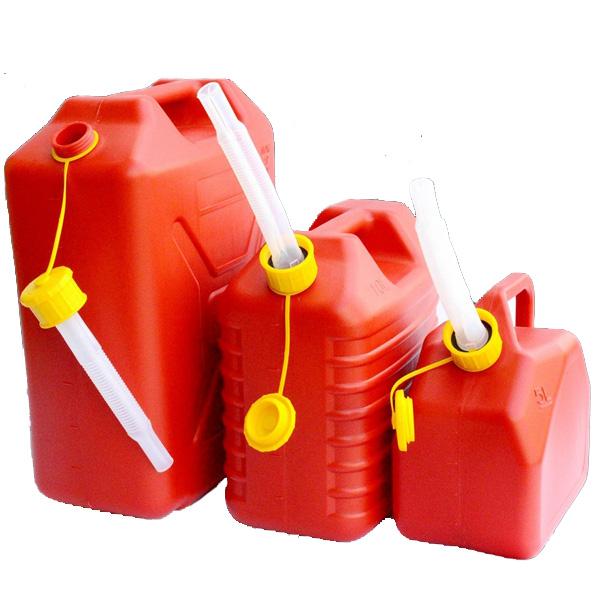 STEL 5 Litre Screw Top Red Metal Fuel Tank Jerry Can Gasoline Diesel Petrol