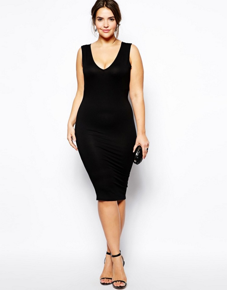 2017 summer new sexy fashion prom women dress plus size ladies party slim black vest dress