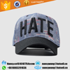custom high quality 100% acrylic embroidery curve brim snapback cap and hat