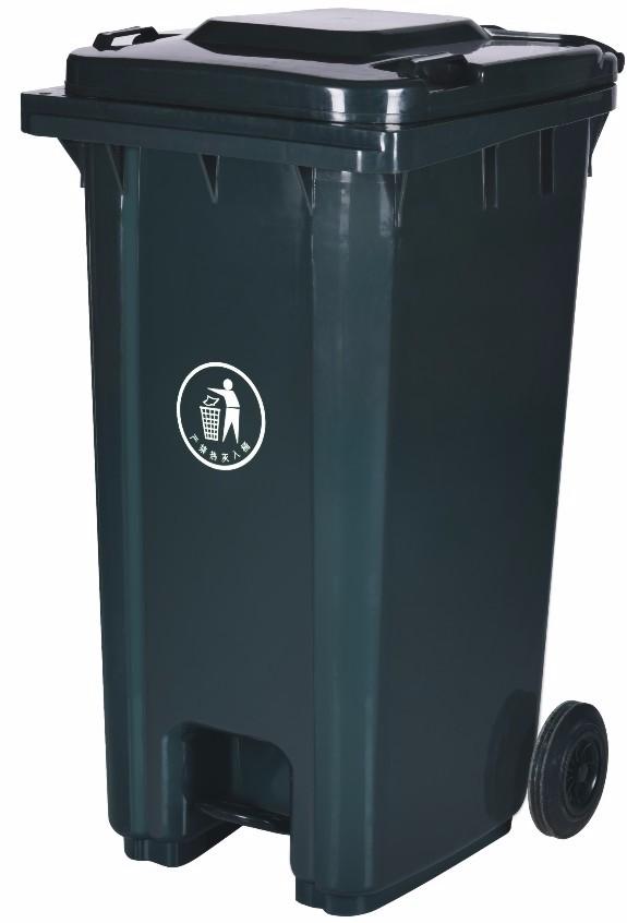 Outdoor Large Hdpe Plastic Trash Bin Modern Dustbin With