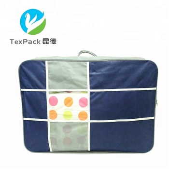 Custom Printed Zip Lock Quilt Packaging Bags Non Woven Duvet Storage Zipper Bag For Bedding