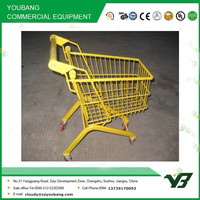 Hot sell good cheap yellow 17 liter zinc with powder european style child size shopping cart (YB-B28)