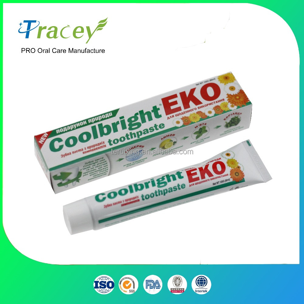 coolbright brand calcium white fluoride toothpaste MANUFACTURE