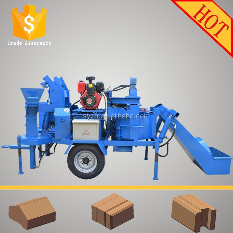 hand operated clay brick making machine M7MI SUPER twin Interlocking brick machine making for clay raw material two bricks one t