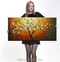 Customized fashion wall art oil painting on canvas Manufacturer direct sale wholesale flower oil painting