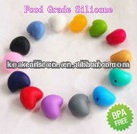 Wholesale Fancy FDA Free Silicone Heart Beads/Silicone Beads Manufacturer