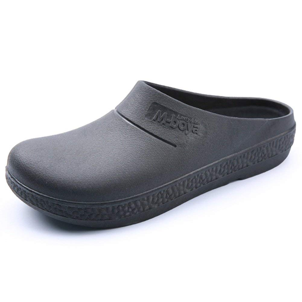 6a6ac42ed84c Nishiguang Professional Slip Resistant Work Shoes Resistant Kitchen Food  Service Chef Clog for Men Women