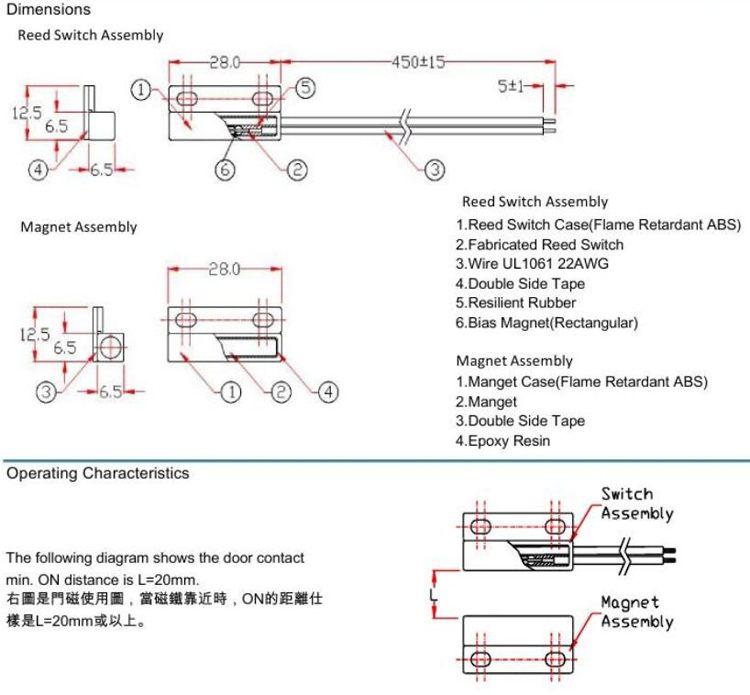Wiring Diagram For Reed Switch : Reed switch wire diagram wiring images