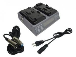 Camcorder Battery Charger For Sony BP-65H, BP-90, BP-IL75 2-Channel V-Mount V-Lock Battery