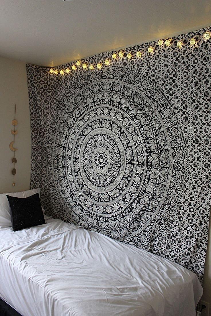 tapestry, Indian Mandala Tapestry,Hippie Tapestry,Bohemian Boho Bedspread Tapestry,Dorm Tapestry,Wall Tapestry,Tapestry Wall Hangings,black and white Tapestry,meditation rugs,trippy tapestry#bs80