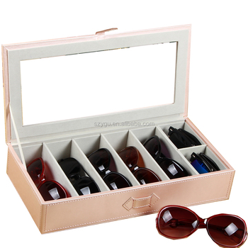 PU Leather Box Sunglass Storage Box Eyeglasses Organizer Display Eyewear Storage  Case