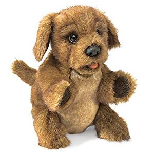 Folkmanis Puppy Dog Hand Puppet, Brown by Folkmanis