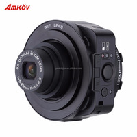 AMKOV AMK JQ1 Mini Selfie Lens-style Wifi Digital Camera Camcorder Full HD 1080P 20MP 4X digital 5X Optical Zoom PC Camera