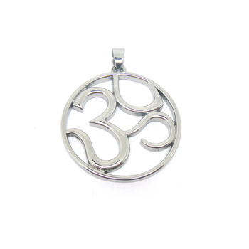 New Design Silver Color Stainless Steel Om Symbol Jewelry Wholesale