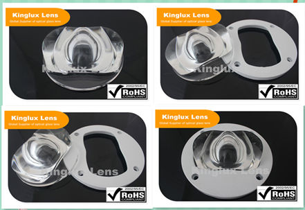 90mm 150*75mm degree COB lens for high power street lights