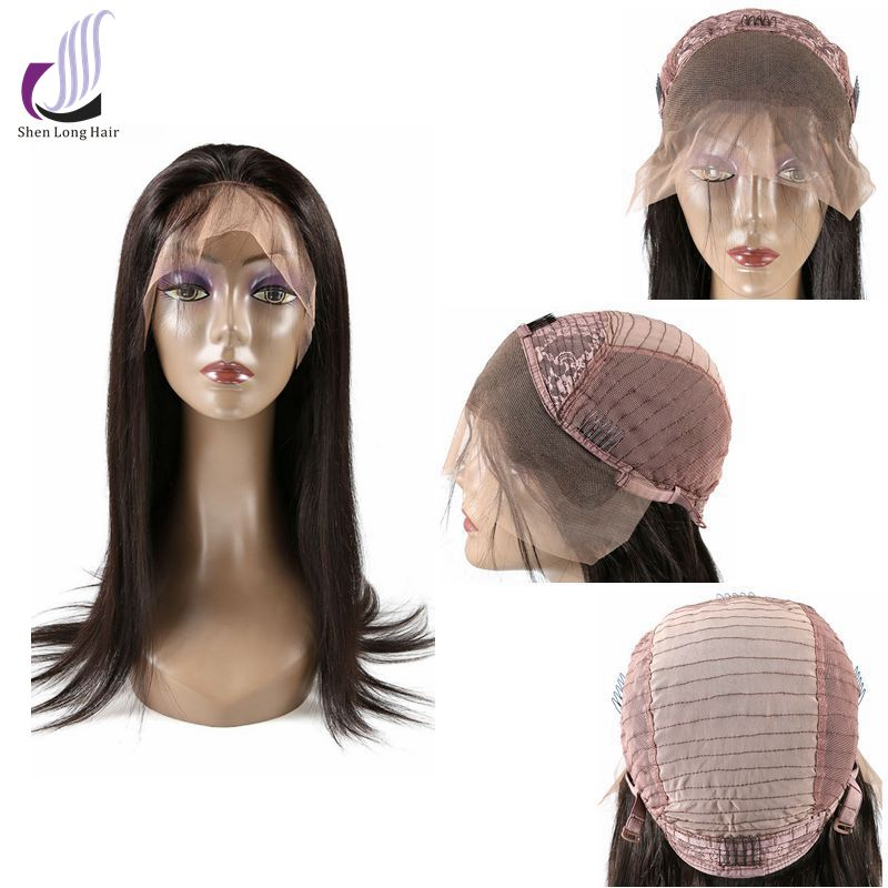 Best quality 120% density silky straight glueless full lace wig/ lace front wig 100% indian human hair wigs