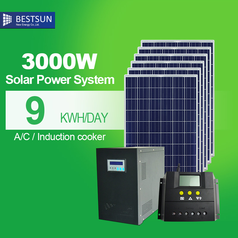 BESTSUN energy storage system pure sine wave off grid 3000W combined solar energy home solar systems