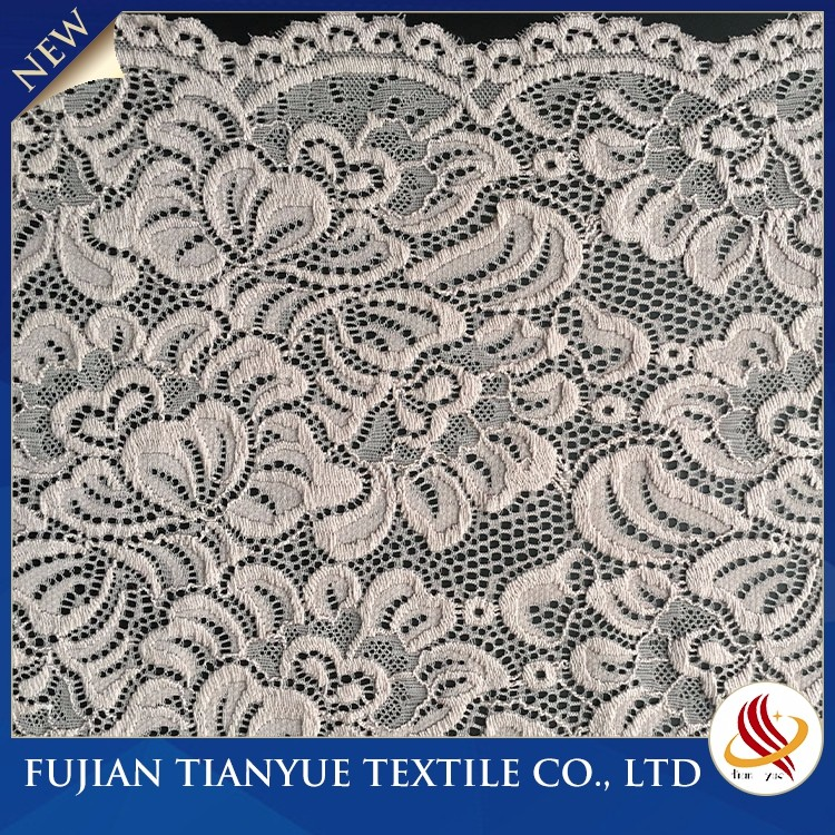 Nylon Knitted Border Embroider Lace For Bridal Dress
