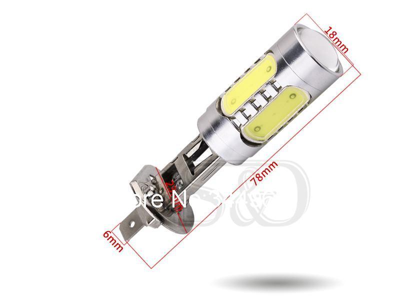 H1 из светодиодов высокой мощности 7.5 Вт чистый белый туман глава хвост вождение автомобиля из светодиодов лампочки лампы авто источник света парковка 12 В 6000 К
