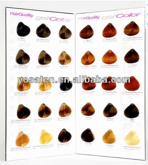 Professional Hair Color Chart for salon hair dye From China