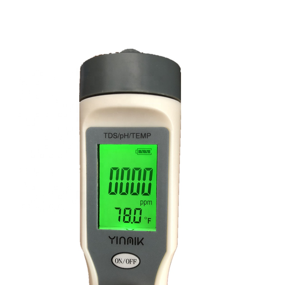 Portable TDS/pH/TEMP 3 in 1 Meter Digital Water Quality Monitor For  Pools, Drinking Water, Aquariums With Backlight