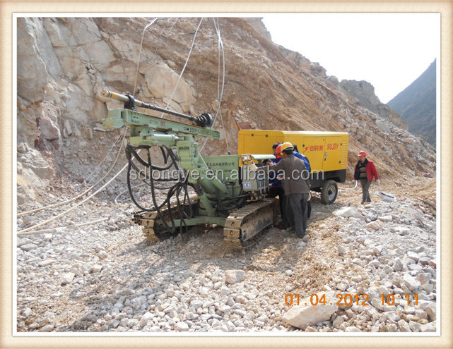 borehole rock drilling rig Z115Y with dust collector