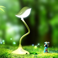 Plastic animal shaped table lamp with rechargeable battery