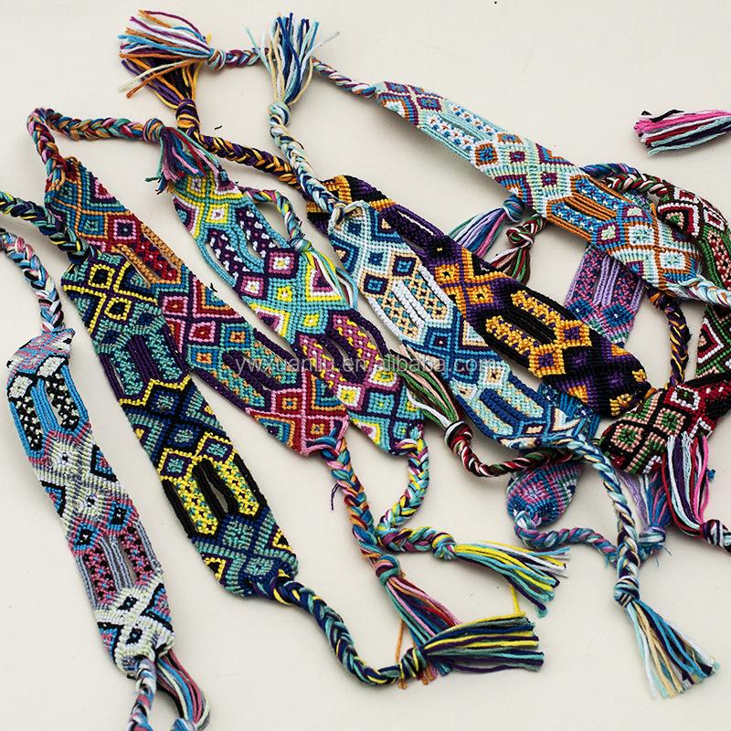 Por World Wide Styles Woven Friendship Bracelet Oem Pattern Braided For Promotional Bracelets
