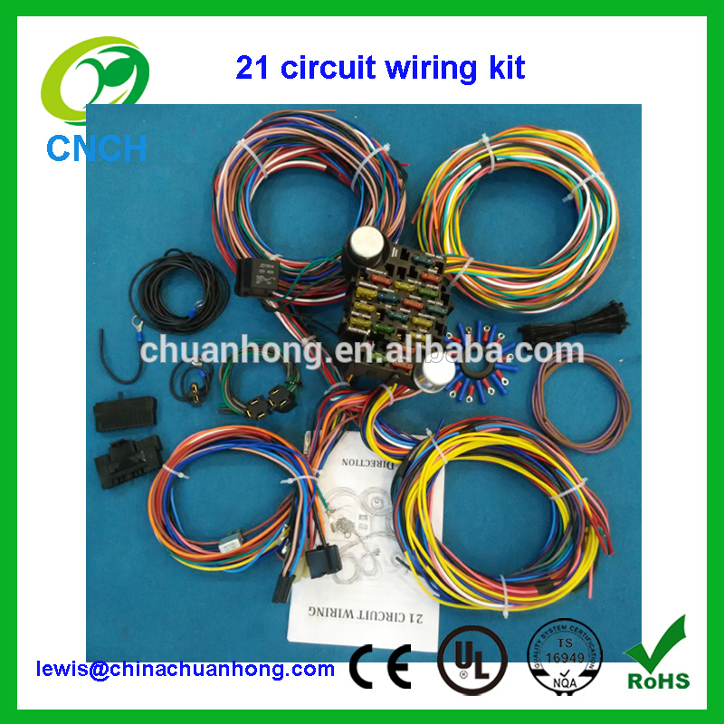 CNCH 21 Circuit Wiring Harness Kit Chevy Mopar Ford Hot Rod ...