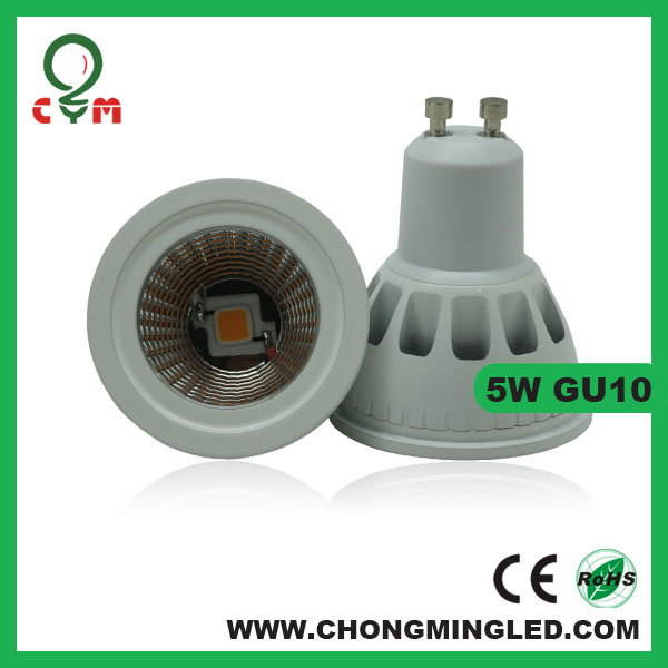 500lm dimmable gu10 mr11 led 5w with 3 years warranty