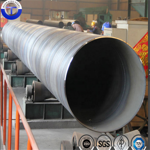 Large diameter API 5L X42 SSAW Weld Spiral Carbon Steel Pipes with Anti Corrosion Coating