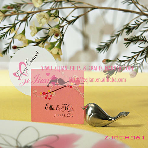 Metal Love Bird Place Card Holder/Photo Holder Wedding Gifts