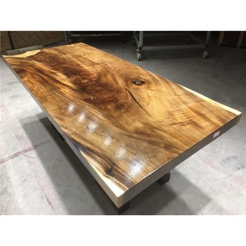 Factory Price Long Whole Piece Tree Log Walnut Wood Slab Table Top For Dining Furniture Suar